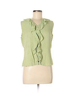 Silkland Sleeveless Silk Top Size M