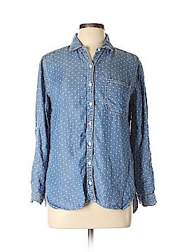 SNEAK PEEK 3/4 Sleeve Button-Down Shirt Size M