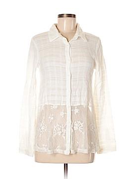 Hem & Thread Long Sleeve Button-Down Shirt Size S