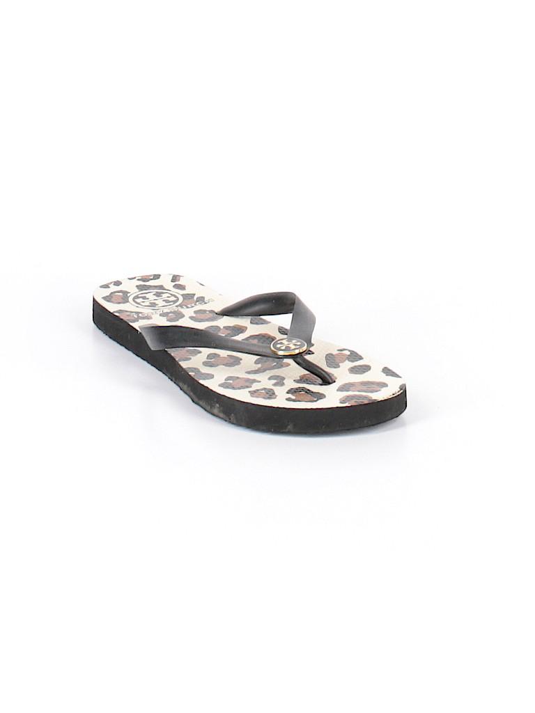 ca49d2954 Tory Burch Animal Print Black Flip Flops Size 8 - 83% off