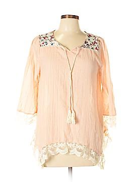 Kori America 3/4 Sleeve Blouse Size M