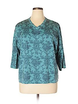 Karen Scott II 3/4 Sleeve T-Shirt Size 1X (Plus)