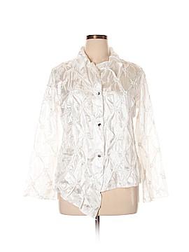 Silk Box Long Sleeve Blouse Size 1X (Plus)