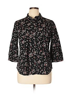 Studio Works 3/4 Sleeve Button-Down Shirt Size XL