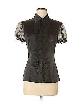 Arden B. Short Sleeve Silk Top Size S