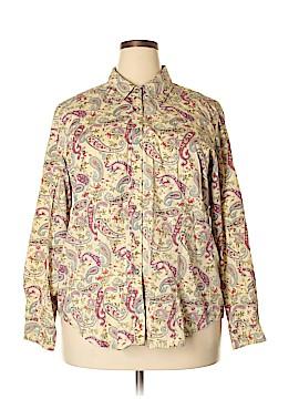 Elisabeth by Liz Claiborne Long Sleeve Button-Down Shirt Size 18 (Plus)