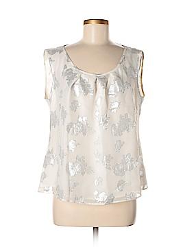 St. John Collection Sleeveless Silk Top Size XL