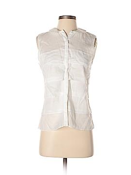 Zara Basic Sleeveless Button-Down Shirt Size XS
