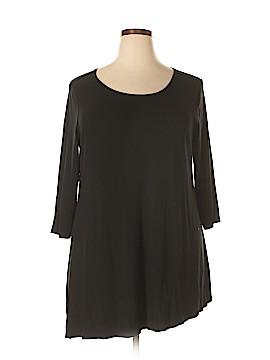 Joan Vass 3/4 Sleeve T-Shirt Size 3X (Plus)