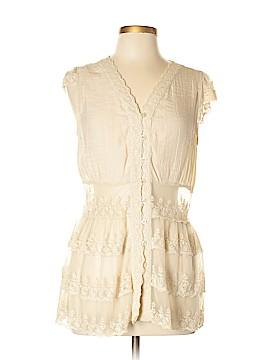 Adiva Short Sleeve Blouse Size L