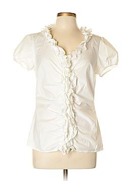 Ann Taylor LOFT Outlet Short Sleeve Button-Down Shirt Size 10