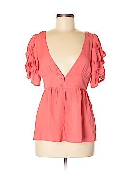 Aryn K. Short Sleeve Silk Top Size M