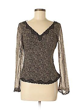 Nine West Long Sleeve Silk Top Size 2