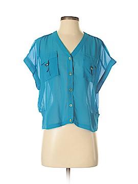 Bebe Short Sleeve Blouse Size S