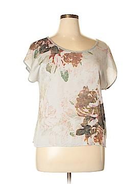 A.n.a. A New Approach Short Sleeve Button-Down Shirt Size L