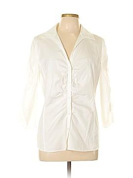 Lafayette 148 New York 3/4 Sleeve Button-Down Shirt Size 14