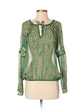 Calypso St. Barth Long Sleeve Silk Top Size Sm (0)