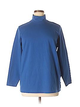 Caslon Long Sleeve Turtleneck Size 1X (Plus)