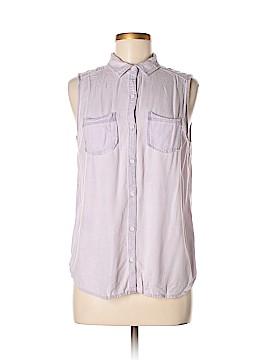 Rubbish Sleeveless Button-Down Shirt Size L