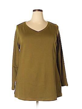 Isaac Mizrahi Long Sleeve T-Shirt Size 1X (Plus)