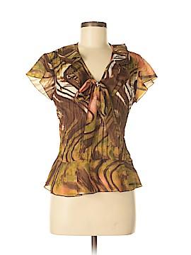 Allison Taylor Short Sleeve Blouse Size M