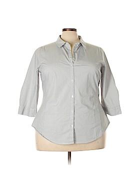 Worthington 3/4 Sleeve Button-Down Shirt Size 2X (Plus)