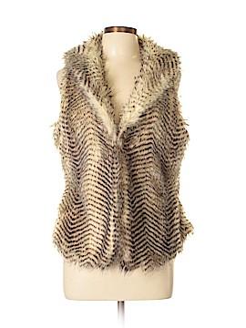 Francesca's Faux Fur Vest Size L