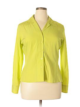Como Long Sleeve Silk Top Size 14