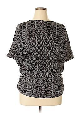 Black Saks Fifth Avenue Short Sleeve Top Size XL