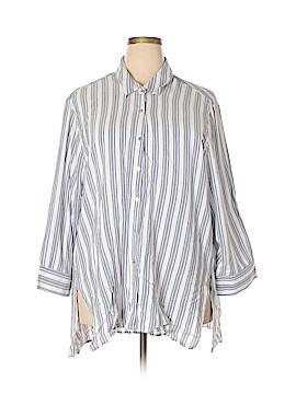 Bobeau 3/4 Sleeve Button-Down Shirt Size 3X (Plus)