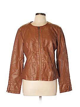 Ann Taylor LOFT Outlet Faux Leather Jacket Size L