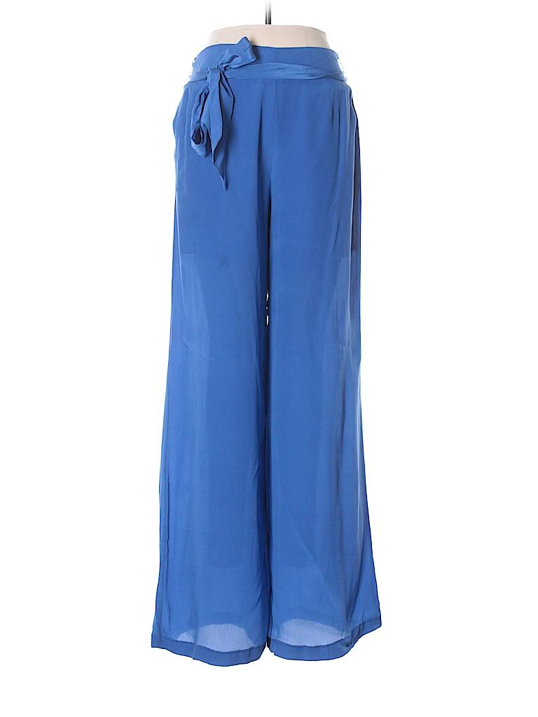 Line & Dot Women Silk Pants Size M