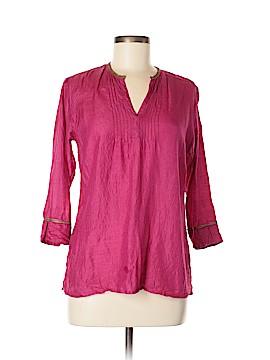 Fabindia 3/4 Sleeve Silk Top Size M