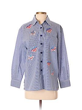 Draper's & Damon's Long Sleeve Button-Down Shirt Size S (Petite)