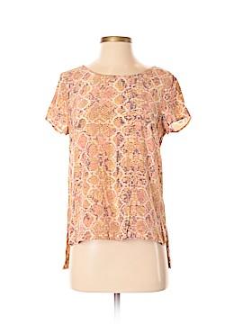 Fynn & Rose Short Sleeve Silk Top Size S
