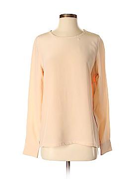 Equipment Long Sleeve Silk Top Size S
