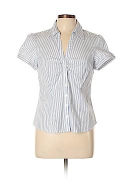 Ann Taylor LOFT Outlet Short Sleeve Button-Down Shirt Size 12 (Petite)