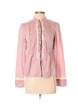 Floreat Long Sleeve Button-Down Shirt Size 8