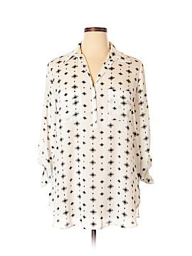 Pleione 3/4 Sleeve Button-Down Shirt Size XL