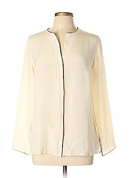 AKRIS Long Sleeve Silk Top Size 12