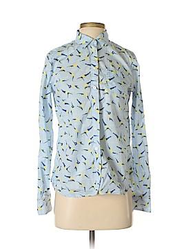 Stylus Long Sleeve Button-Down Shirt Size S