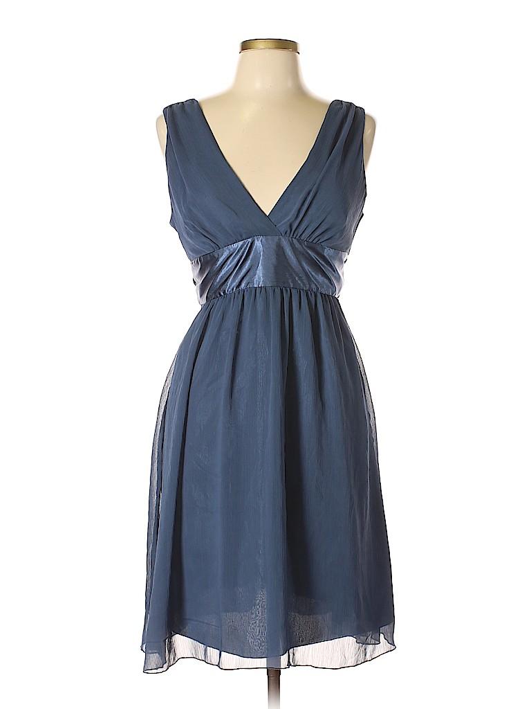 47ff23831f46 Forever 21 100% Polyester Solid Dark Blue Cocktail Dress Size L - 45 ...