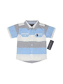 U.S. Polo Assn. Short Sleeve Button-Down Shirt Size 24 mo