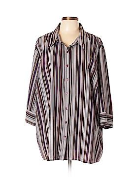 Maggie Barnes Long Sleeve Button-Down Shirt Size 3X (Plus)