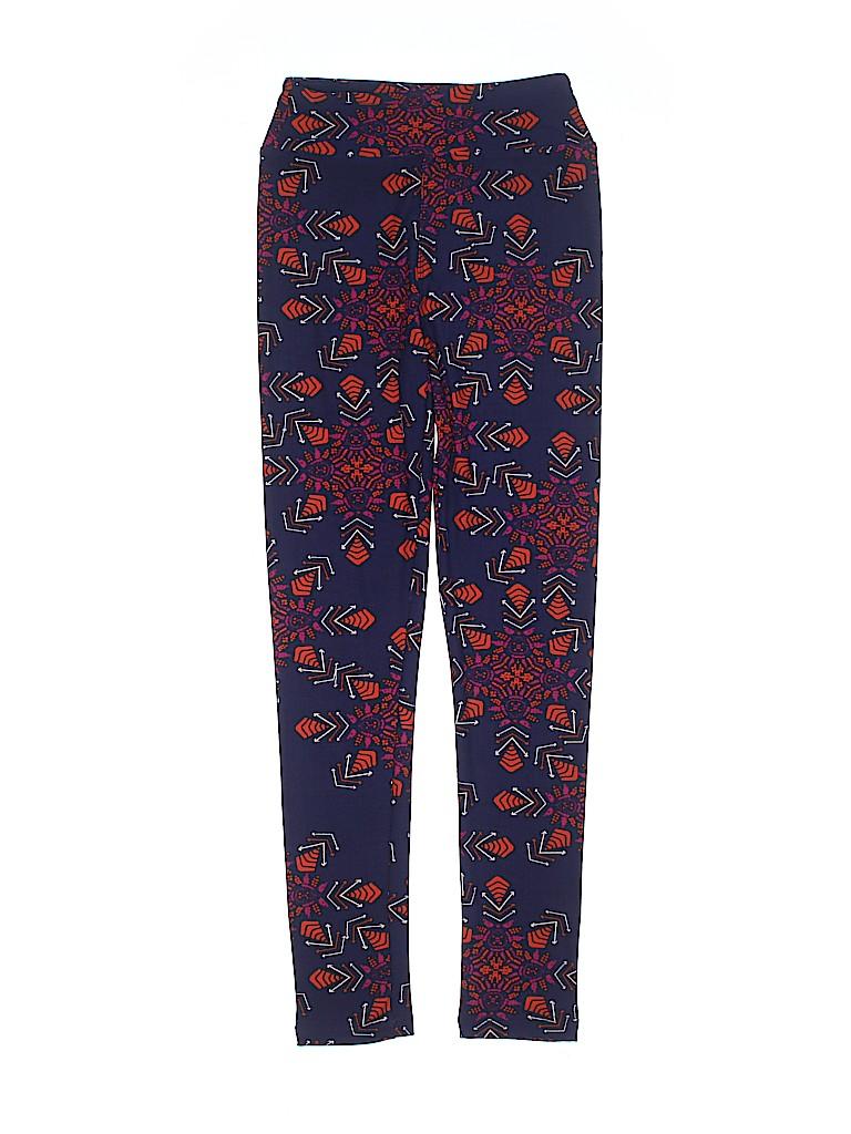 f1ff5f89a44a94 Lularoe Print Purple Leggings One Size (Youth) - 25% off | thredUP