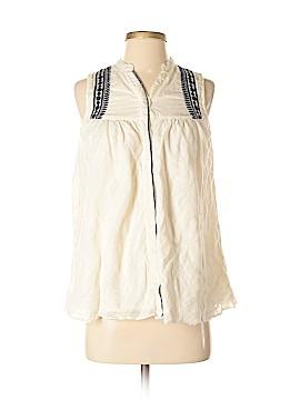 Fabindia Sleeveless Button-Down Shirt Size XS