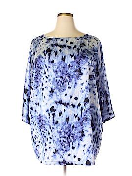 Mark Zunino 3/4 Sleeve Blouse Size 2X (Plus)