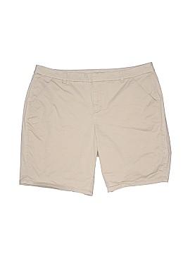 Lane Bryant Outlet Khaki Shorts Size 18 (Plus)