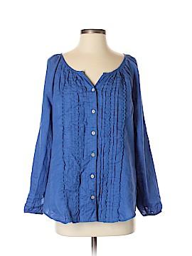 Soft Surroundings Long Sleeve Button-Down Shirt Size S (Petite)
