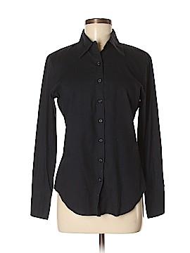 Norma Kamali Long Sleeve Button-Down Shirt Size S